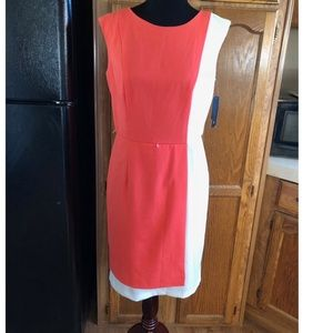 NWT AB Studio Colorblock Shift Dress Size 10
